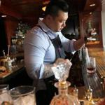 April 15, 2015-- WOBURN - Ran Duan , who is going to represent the USA in a cocktail competition in Sydney later this month. The cocktail that clinched him the national title--and the one he's taking to the global competition--is called